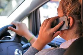 Driving using a phone