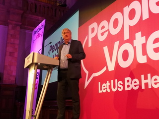 Phil Bennion at People's Vote rally